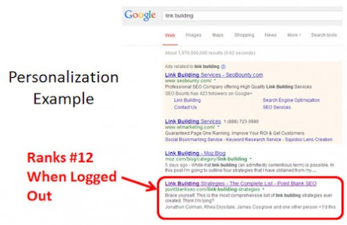 google-personalization-example